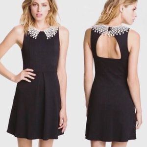 Free People Sz S Waffle Dress Crochet Collar